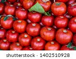 red tomatoes texture overhead....   Shutterstock . vector #1402510928