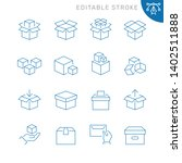 boxes related icons. editable... | Shutterstock .eps vector #1402511888