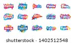 abstract logo for the fiesta.... | Shutterstock .eps vector #1402512548