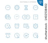 time related icons. editable... | Shutterstock .eps vector #1402538402