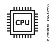 cpu  processor icon in trendy...