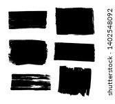 hand drawn black brush strokes.   Shutterstock .eps vector #1402548092