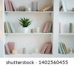 Bookcase With Pink And Blue...