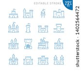 castles related icons. editable ... | Shutterstock .eps vector #1402564472
