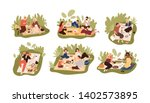 collection of young and elderly ... | Shutterstock .eps vector #1402573895