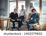portrait of successful group of ... | Shutterstock . vector #1402579832