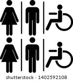 vector mens and womens disabled ... | Shutterstock .eps vector #1402592108