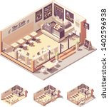 vector isometric coffee shop or ...   Shutterstock .eps vector #1402596938