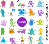 cartoon illustrations of funny... | Shutterstock .eps vector #1402599875
