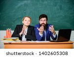 teacher principal decide who... | Shutterstock . vector #1402605308