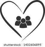heart sign icon. present with...   Shutterstock .eps vector #1402606895
