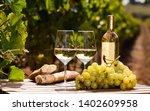 Glass Of Dry White Wine Ripe...
