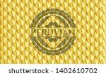 peruvian gold emblem or badge....   Shutterstock .eps vector #1402610702