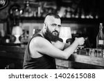 guy spend leisure in bar with... | Shutterstock . vector #1402615088