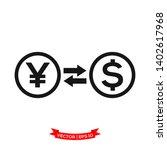 money exchange vector icon  yen ... | Shutterstock .eps vector #1402617968