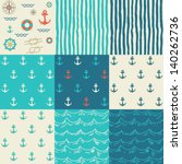 nine seamless patterns of... | Shutterstock .eps vector #140262736