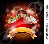 vector illustration on a casino ... | Shutterstock .eps vector #140263102