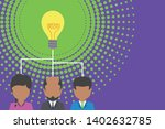 group three people sharing idea ...   Shutterstock .eps vector #1402632785