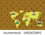 collage multiethnic people on...   Shutterstock .eps vector #1402632842