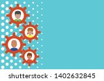 gearshaped picture frame family ...   Shutterstock .eps vector #1402632845