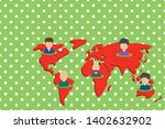 collage multiethnic people on...   Shutterstock .eps vector #1402632902