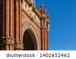 triumphal arch in the city of... | Shutterstock . vector #1402652462