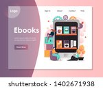 ebooks vector website template  ... | Shutterstock .eps vector #1402671938