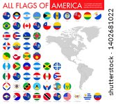 flags of all countries of the... | Shutterstock .eps vector #1402681022