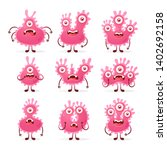doodle cartoon characters  red... | Shutterstock .eps vector #1402692158