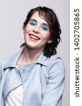 portrait of smiling female in...   Shutterstock . vector #1402705865