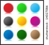 set of glass buttons | Shutterstock .eps vector #14027086