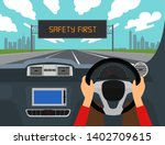 right hand drive car vector... | Shutterstock .eps vector #1402709615