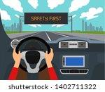 left hand drive car  right... | Shutterstock .eps vector #1402711322
