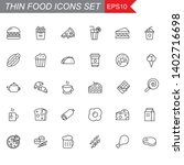 food thin line icons set ... | Shutterstock .eps vector #1402716698