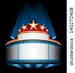 illuminated cinema marquee | Shutterstock .eps vector #140272408