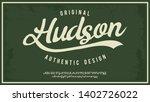 hudsone. hand made script... | Shutterstock .eps vector #1402726022