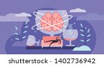 hangover vector illustration.... | Shutterstock .eps vector #1402736942