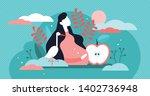 pregnancy vector illustration....   Shutterstock .eps vector #1402736948