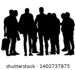 big crowds people on white...   Shutterstock .eps vector #1402737875