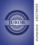 juror with denim texture.... | Shutterstock .eps vector #1402740455