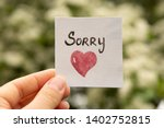 Sorry. Sticker With Sorry...