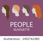 silhouettes of people with...   Shutterstock .eps vector #1402762385