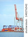 port cargo crane and container... | Shutterstock . vector #140276542
