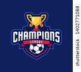 soccer champions league logo... | Shutterstock .eps vector #1402771088