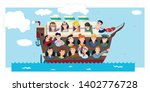 group of people journey. vector ... | Shutterstock .eps vector #1402776728