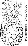 cartoon pineapple coloring page - cartoon pineapple clip art vector cartoon pineapple