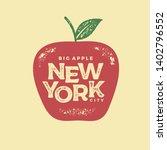 new york city typography design.... | Shutterstock .eps vector #1402796552