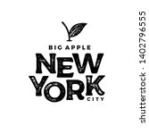 new york city typography design.... | Shutterstock .eps vector #1402796555
