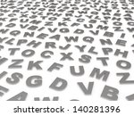 letters of the english alphabet.... | Shutterstock . vector #140281396