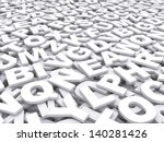 letters of the english alphabet.... | Shutterstock . vector #140281426